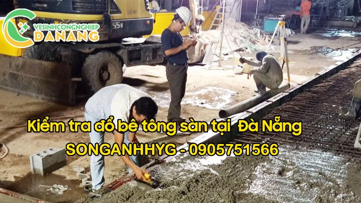 Kiểm tra bê tông sàn trước khi đổ