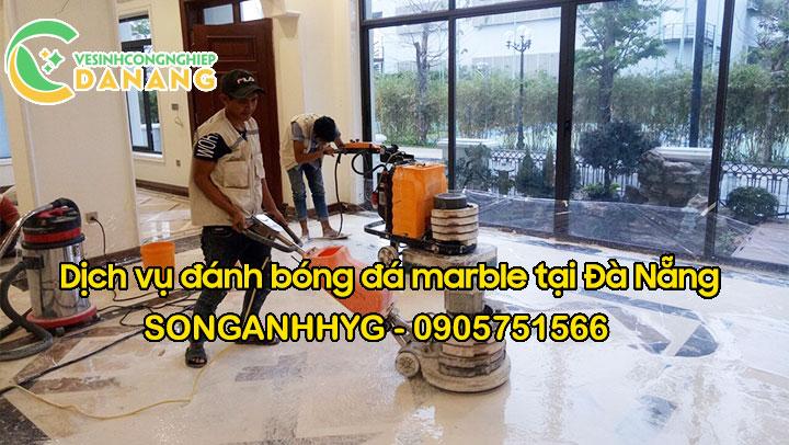 Dịch vụ đánh bóng đá marble tại Đà Nẵng