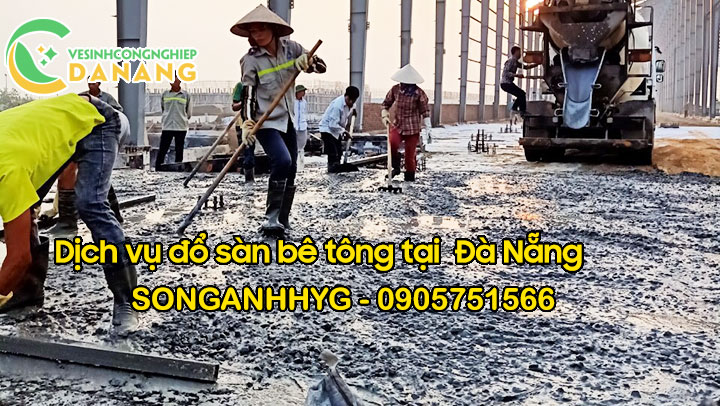 Thi công đổ bê tông sàn tại Đà Nẵng