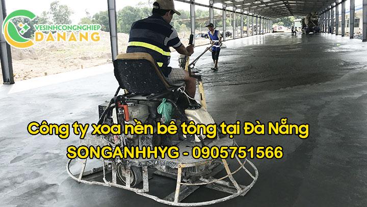 Xoa nền đánh mặt bê tông tại Đà Nẵng