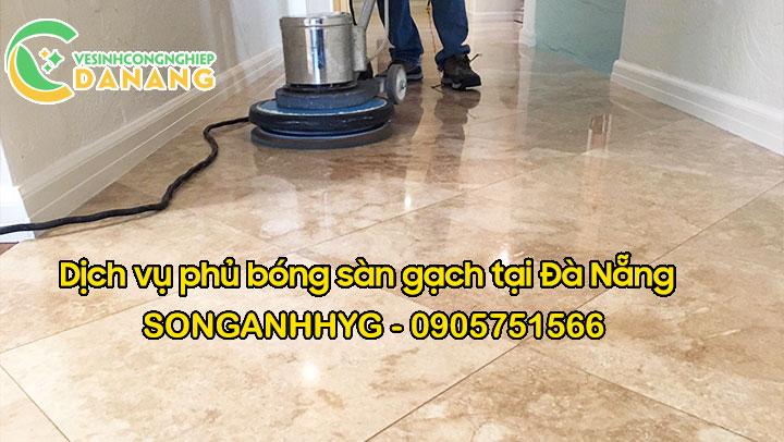 Dịch vụ phủ bóng sàn gạch tại Đà Nẵng