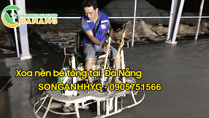Kỹ thuật xoa nền bê tông bằng máy xoa tự hành tại Đà Nẵng