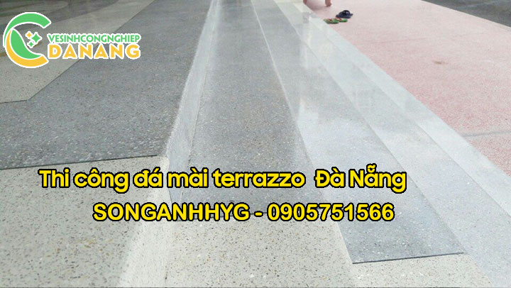 Thi công bậc tam cấp đá mài terrazzo tại Đà Nẵng