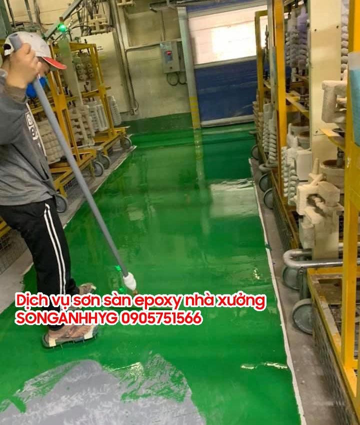 Dịch vụ sơn epoxy sàn nhà xưởng tại Đà Nẵng