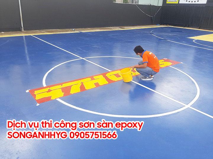 Thi công sơn epoxy sân thể thao tại Đà Nẵng