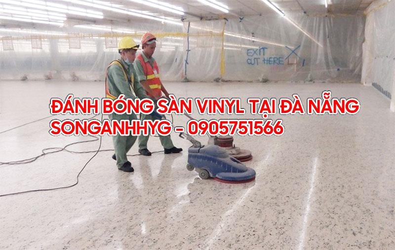 Đánh bóng sàn vinyl chống tĩnh điện tại Đà Nẵng