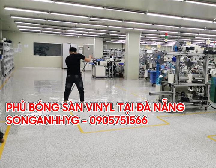 Phủ bóng sàn vinyl chống tĩnh điện tại Đà Nẵng