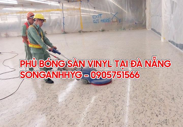 Phủ bóng/đánh bóng sàn vinyl chống tĩnh điện