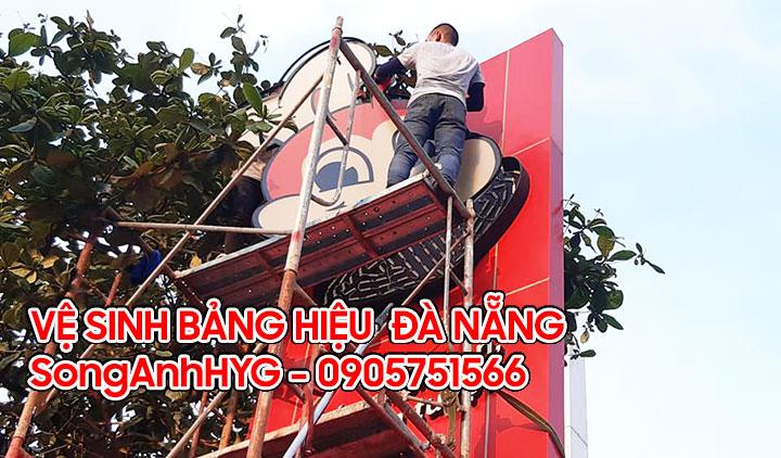 Dịch vụ vệ sinh bảng hiệu quảng cáo tại Đà Nẵng