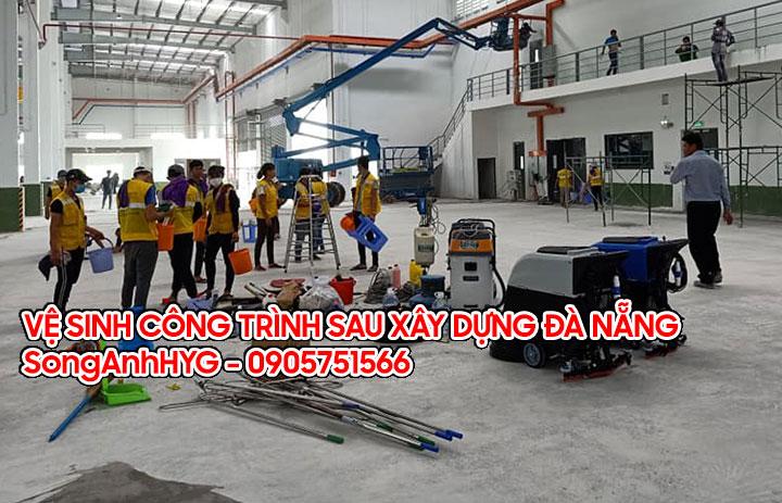 Vệ sinh công trình sau xây dựng tại Đà Nẵng