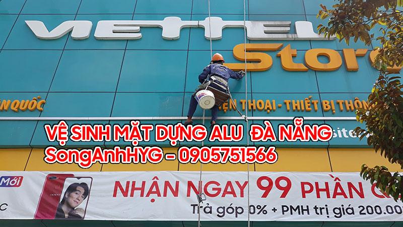 Vê sinh mặt dựng tại Đà Nẵng