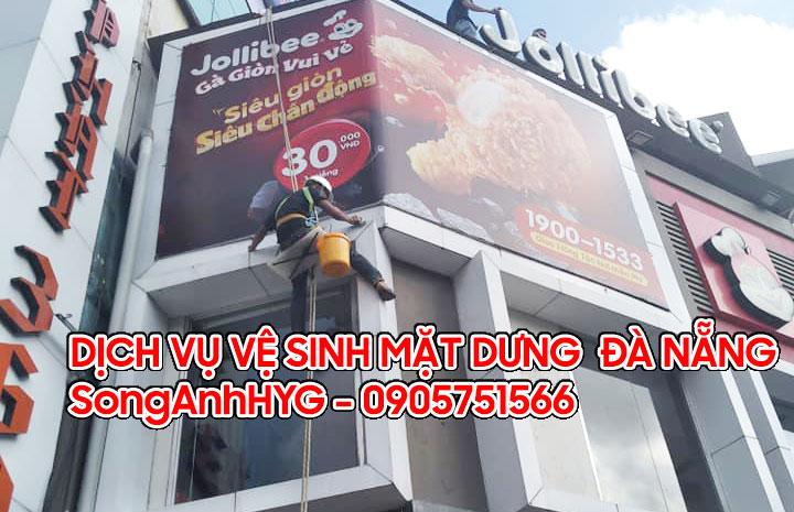 Dịch vụ vệ sinh mặt dựng tại Đà Nẵng