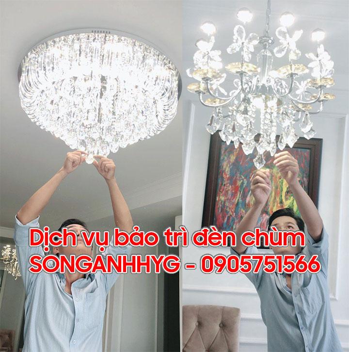 Dịch vụ bảo trì đèn chùm Đà Nẵng