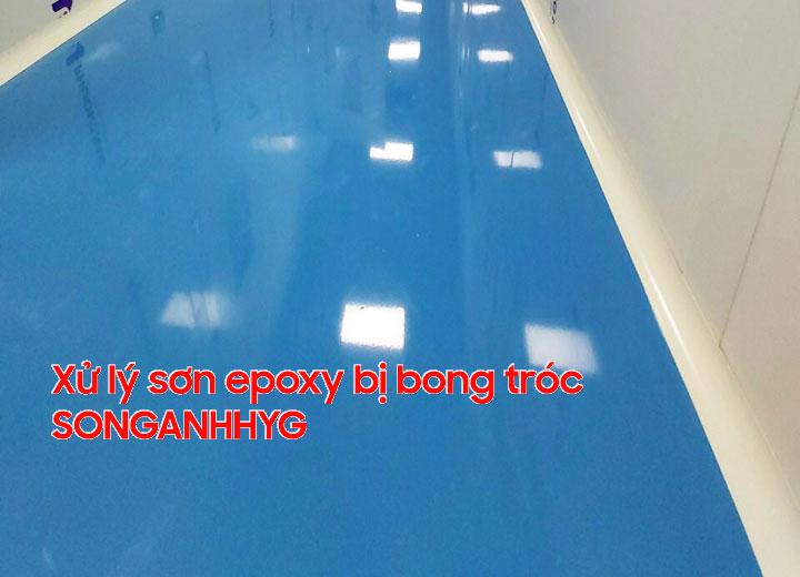 Xử lý triệt để sàn epoxy bị bong rộp